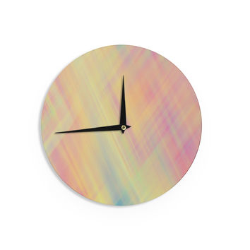 "Ingrid Beddoes ""Pastel Abstract"" Wall Clock"
