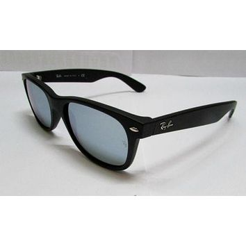 Cheap Ray-Ban Sunglasses NEW Wayfarer 2132 622/30 Black Matte Silver Mirrored 100% ORG outlet