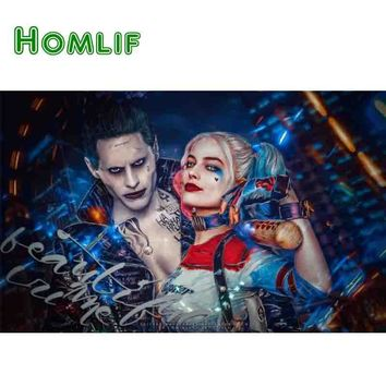 5d diy Full Square Diamond Painting Cross stitch Harley Quinn Suicide Squad Art Rhinestone Embroidery Diamonds Mosaic home decor