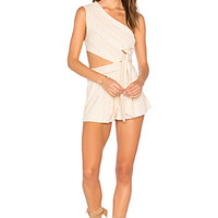 Free People Hot Chip Romper in Neutral Combo | REVOLVE