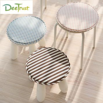 High Quality Cotton Linen Round Chair Seat Cushion Plaid Kids Antiskid Cute Latch Hook Round Pillow Cojines Almofadas Decorativa