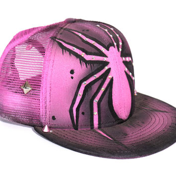 Miss Maneater Girly Spider Snapback