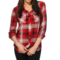 Empyre Cortland Red Plaid Shirt