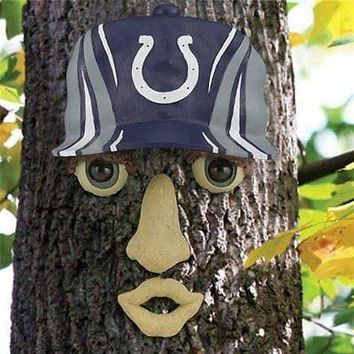 Indianapolis Colts NFL FOREST FACE Yard/Tree GARDEN Decoration
