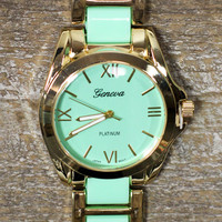 Meant to Be Watch in Mint and Gold