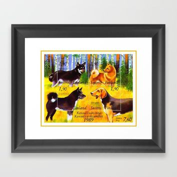 100 Years Union of Finnish Dog Breeders Framed Art Print by lanjee
