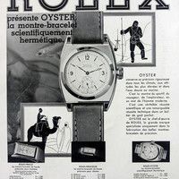 ROLEX Oyster vintage advertising, waterproof Rolex watches poster, French magazine ad A3, Rolex advertisement, retro watches poster