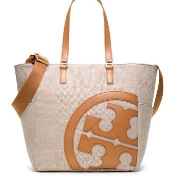 Tory Burch Lonnie Canvas Baby Bag