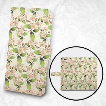 iPhone X iPhone 8/8 Plus case, Samsung Galaxy S9 case, Edge case Note 5 4 3 2 PU leather flip cover Book Phone case Wallet case - K8 Flowers