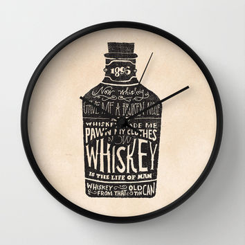 Whiskey Wall Clock by Jon Contino | Society6