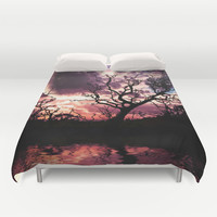 Dark Lunar Duvet Cover by Webgrrl | Society6