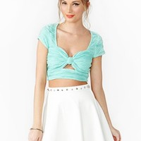 Bow Crop Top - Mint