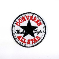 CONVERSE ALL STAR EMBROIDERED BADGES IRON ON/SEW ON PATCH BIKER PUNK