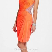 Shimmer Cut Out Short Prom Dress by Camille La Vie