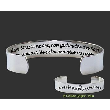 How Blessed We Are Sister In Law Bracelet | Sister In Law Gift