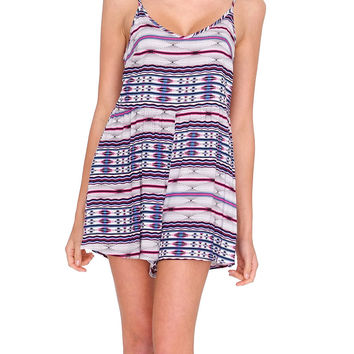 Take Me There Romper - Multi Print