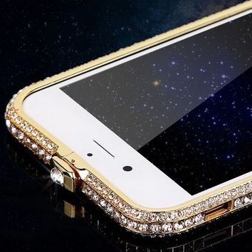 handmade iphone 6 6s plus frame case white diamond