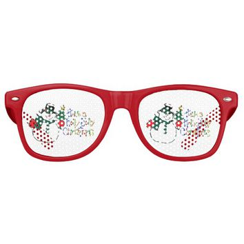 have holly Jolly Christmas Retro Sunglasses