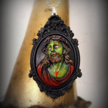 Zombie Jesus with crown of thorns