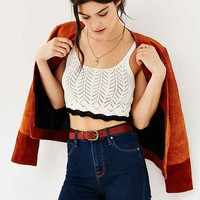 Kimchi Blue Pointelle Cropped Tank Top