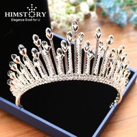 Gorgeous Sparkling Clear Crystal Rhinestone Wedding Crown Tiara Cosplay