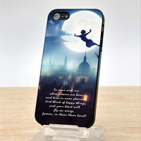 Peter Pan Quote - Fly city night -  iPhone Case Cover, iPhone 4 Cace, iphone 4S Case, iPhone 5 Case