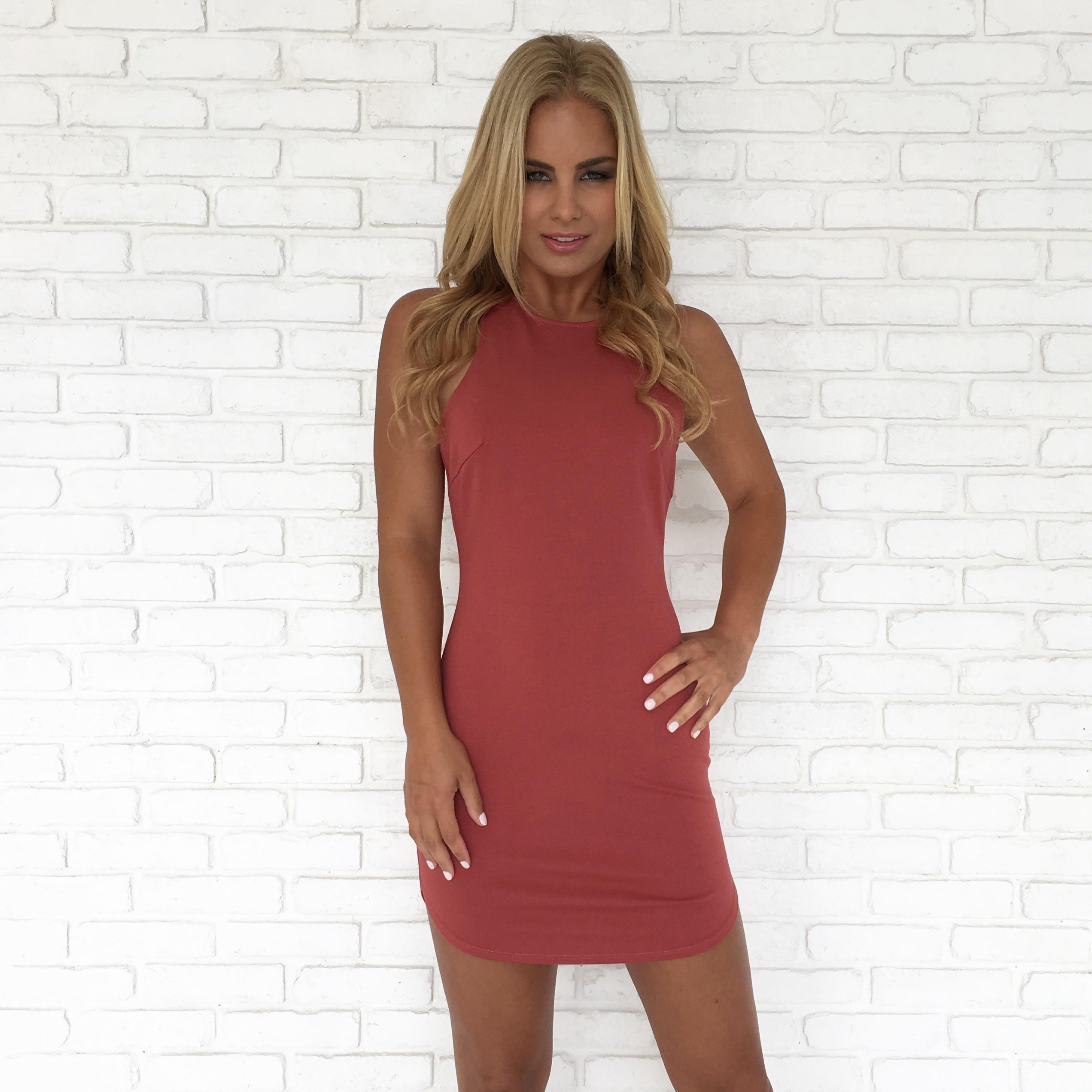 6638283ee4cb Full Control Bodycon Dress In Rust from Dainty Hooligan | DRESSES