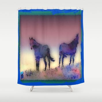 WEST Shower Curtain by Jessica Ivy