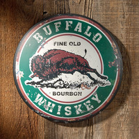 "Park Avenue Collection ""Buffalo Whiskey"" Metal Advertising Sign"