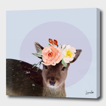 «oh deer 2» Canvas Print by Suzanne Carter - Numbered Edition from $59 | Curioos