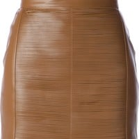 Elisabetta Franchi Leather Mini Skirt - Spinnaker 101 - Farfetch.com