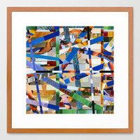 Óscar (stripes 23) Framed Art Print by Wayne Edson Bryan | Society6