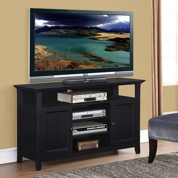 Simpli Home Amherst Tall TV Stand (Black)