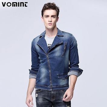 New Arrival Men's Locomotive Jacket Zipper Placket Denim Trucker Jacket Fashion