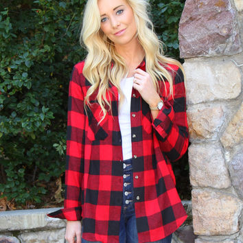 Flannel Plaid Boyfriend Shirt