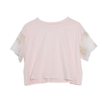 Daisy sleeve short T shirt