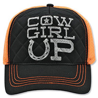 Trucker Style Cowgirl Up Adjustable Ball Cap