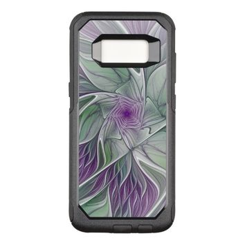 Flower Dream, Abstract Purple Green Fractal Art OtterBox Commuter Samsung Galaxy S8 Case