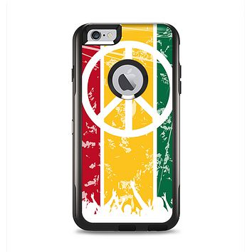 The Red, Yellow & Green Layered Peace Apple iPhone 6 Plus Otterbox Commuter Case Skin Set