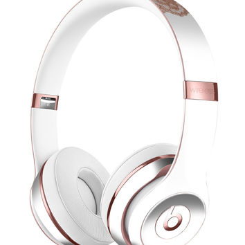 Rose Gold Lace Pattern 8 Full-Body Skin Kit for the Beats by Dre Solo 3 Wireless Headphones