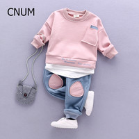 2017 Autumn Kids Clothing Sets Children's Wear Cotton Casual Tracksuits Kids Clothes Sports 2 Pieces Suit 4 Colors Children Sets