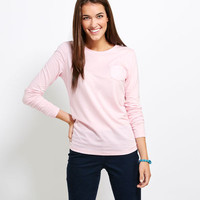 Women's Long-Sleeve Tees: Long-Sleeve Whale Poolside Pocket Tee for Women - Vineyard Vines