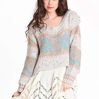 Gabriella Pullover in Frost by Free People - $118.00 : ThreadSence.com, Your Spot For Indie Clothing & Indie Urban Culture