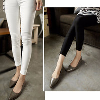 Casual Pencil Pants with Mini Slit