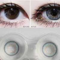 GEO Sparkling Blue Circle Lenses Cosmetic Colored Contacts Circle Lens