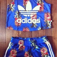 Adidas Brazilian Style Pineapple Print Set Two-Piece