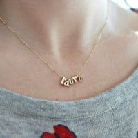 Gold Name Initial Necklace, Initial Necklace Gold, Gold Initial Necklace, Gold Necklace Name, Necklace Name Gold, Name Gold Necklace