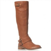 Jessica Simpson Elmont2 Wide Calf Riding Boot, Rich Bourbon