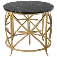 Marble and Gilt Iron Side Table