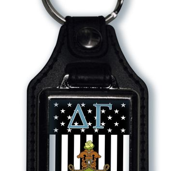 Delta Gamma US Flag Style Licensed Greek Life Keychain
